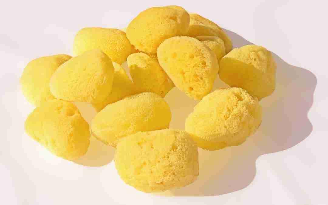 Jabón exfoliante con esponja natural
