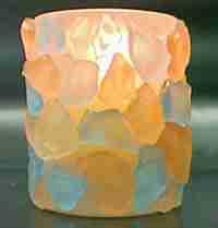 Vela con cristales