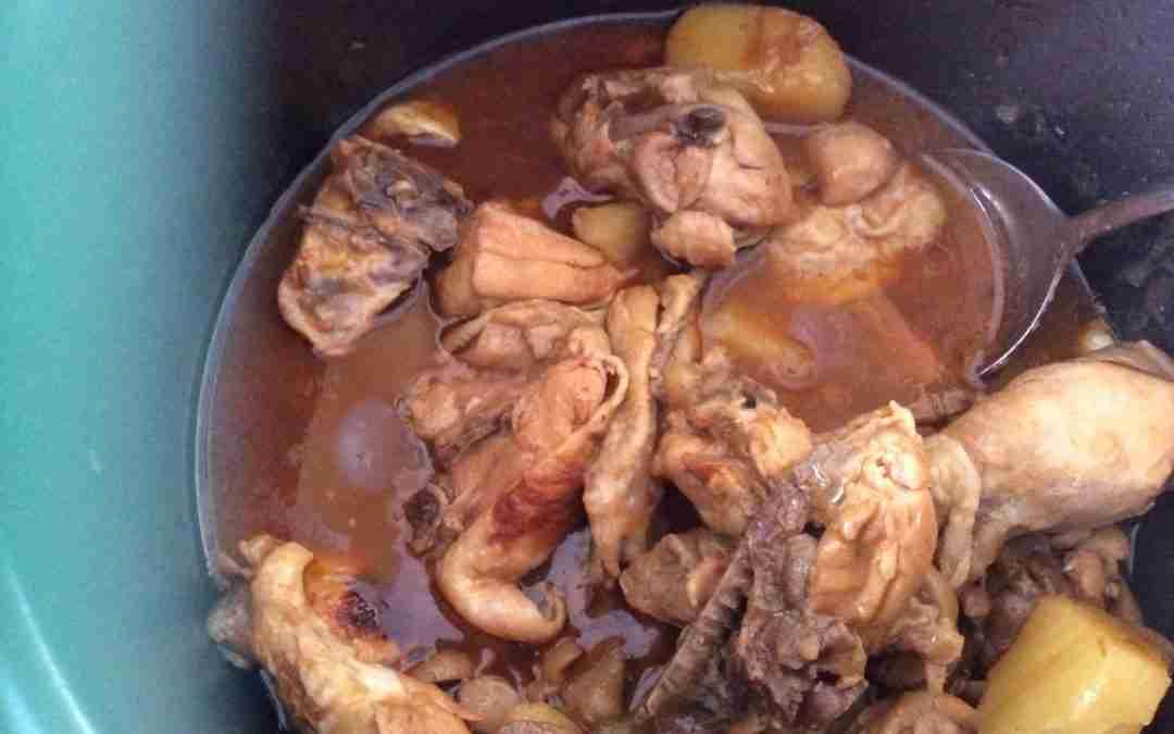 Pollo rápido con sopa de cebolla